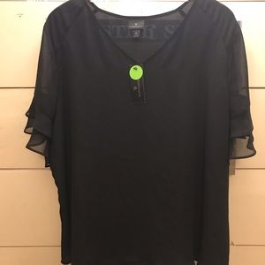Worthington size XL sheer black top